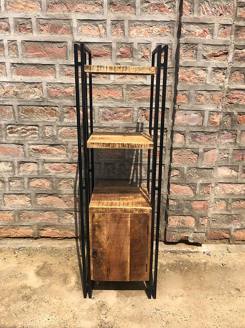 Indian Reclaimed Wood & Iron Bookshelf