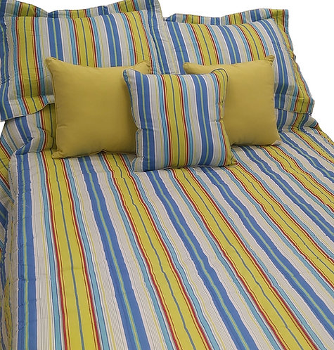 Bright Blue/Green Stripe Sham