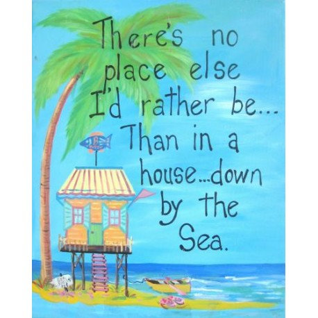 """There's No Place.. Hand painted 16x20"""" Canvas by Mary Baisch"""