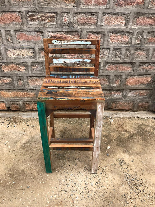 Indian Reclaimed Wood Bar Chair