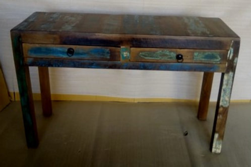 Indian Reclaimed Wood Large Two Door Console Table