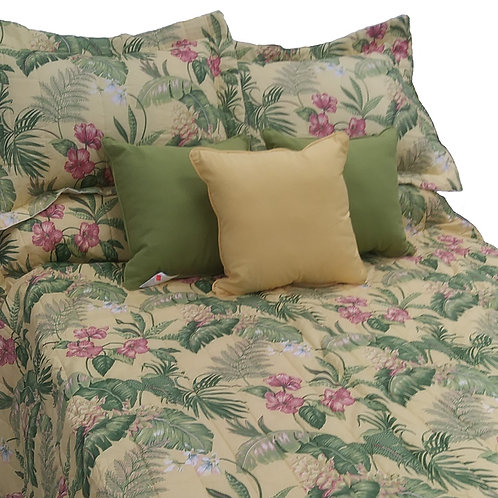 Yellow Tropical Bedspread