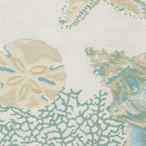 Blue/Green Taupe Sealife Cushion