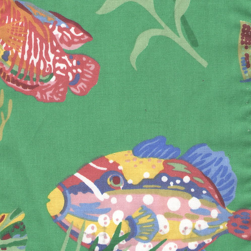 Green Fish Balloon Valance or Curtains