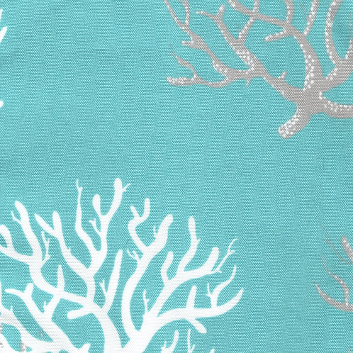 Corals on Turquoise Pillow