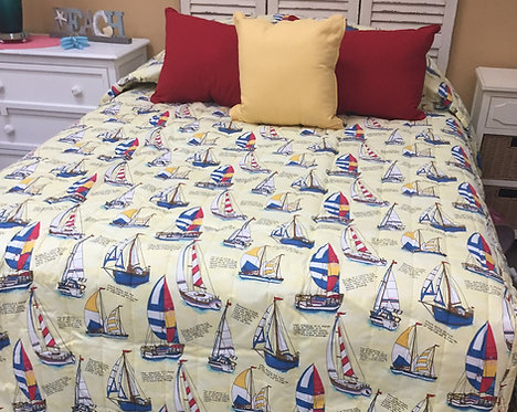Yellow Sailboat Coverlet