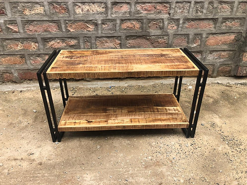 Indian Reclaimed Wood & Iron Frame Coffee Table