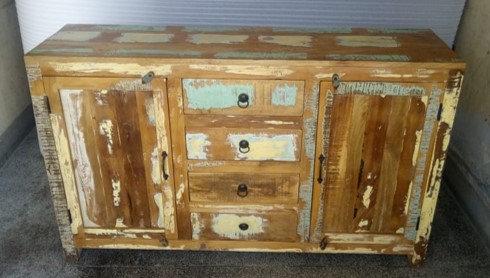 Indian Reclaimed Wood Side Board