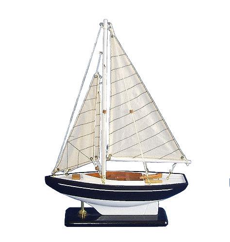 Blue & White Sailboat