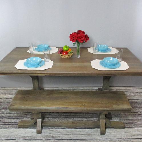 Mango Wood Natural Finish Dining Table (MDA-102)