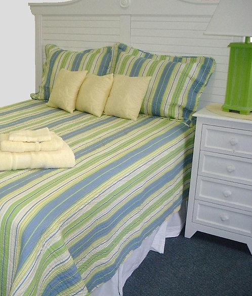 Blue & Green Stripe Quilt