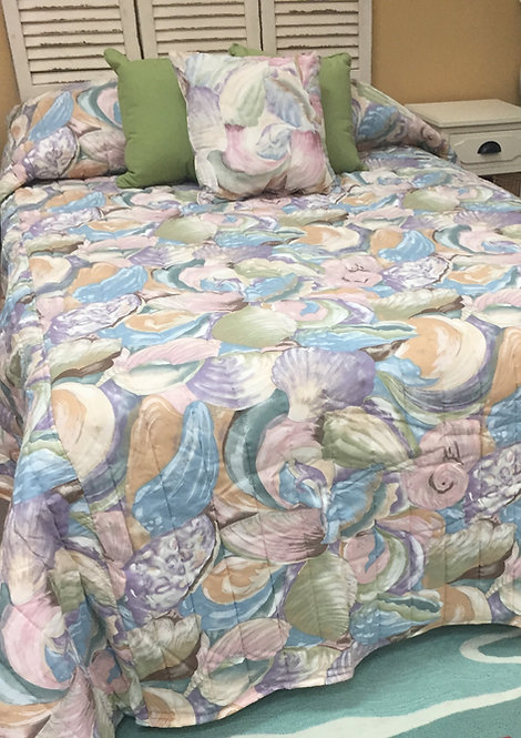 Purple Shell Bedspread