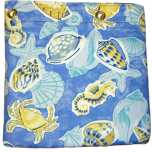 Blue/Yellow Sealife Shower Curtain