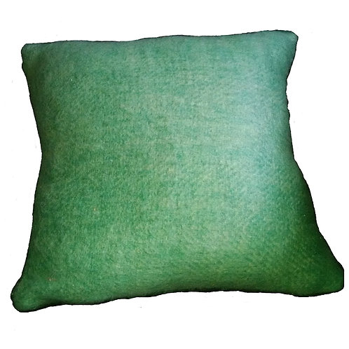 Green Woven Blend Throw Pillow