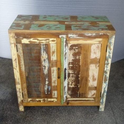 Indian Reclaimed Wood Two Door Chest (MDA-22)