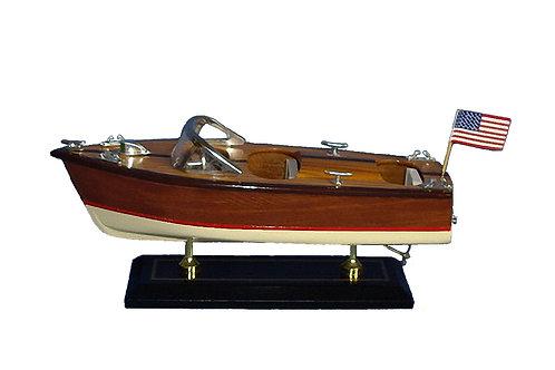 Cream Bottom Powerboat