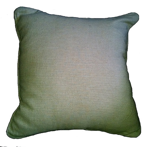 Beige Check Woven Throw Pillow