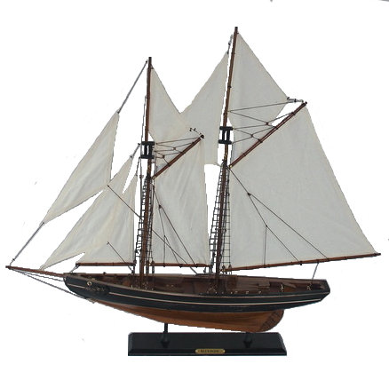 Blue Nose Antiqued 2-Mast Ship