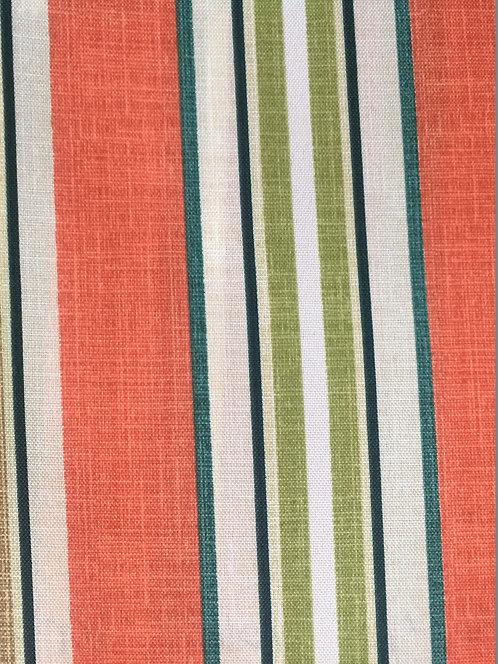 Baja Linen Stripe Coral Pillow