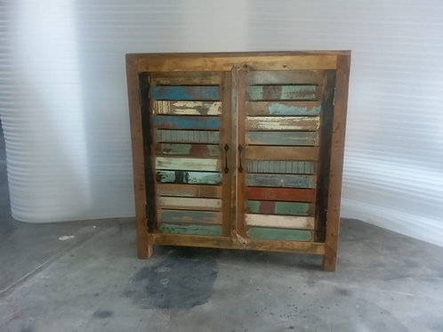 Indian Reclaimed Wood Two Shutter Door Chest (MDA-22A)