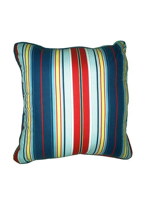 Dark Red/Blue Stripe Pillow