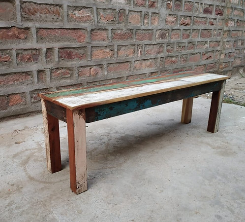 Indian Reclaimed Wood Bench