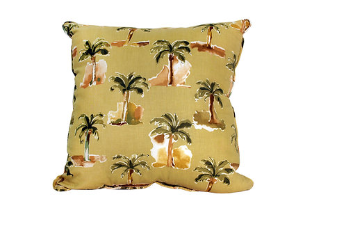 Modern Palm Earthtone Pillow