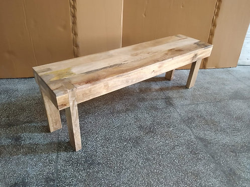 Mango Wood Natural Finish Bench (MDA-131C)