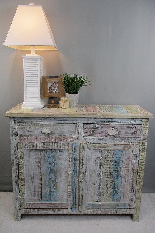 Indian Reclaimed Whitewash Wood Medium Dresser (MDA-18C)