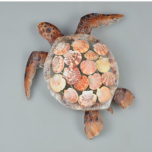 Turtle Wall Decor with Shells
