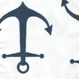 Navy Anchors on White