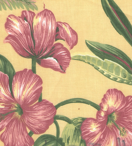 Yellow Tropical Fabric