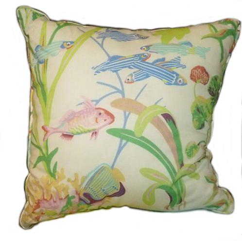 White Fish Throw Pillow