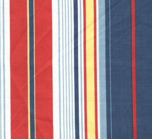 Dar Red/Blue Stripe Fabric