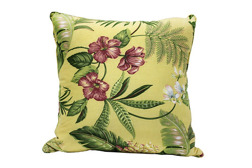 Yellow Tropical Pillow