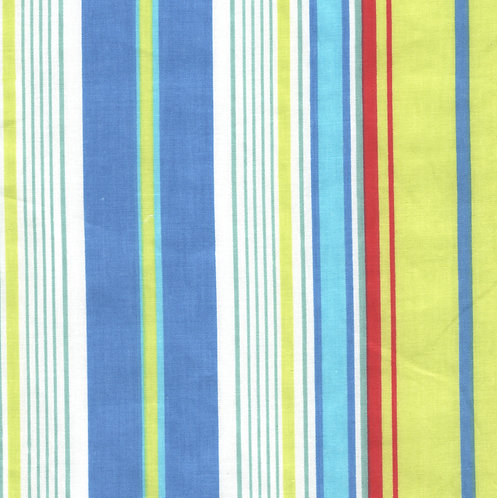 Bright Blue/Green Stripe Fabric