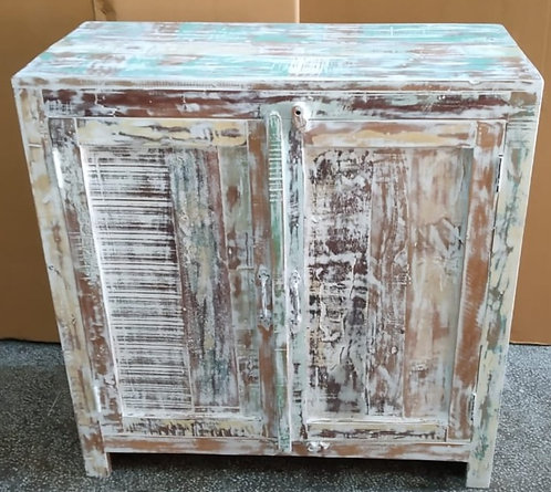 Indian Reclaimed Whitewash Wood Chest