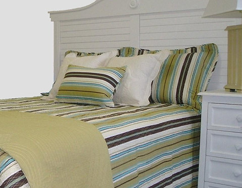 Brown & Blue Stripe Sham