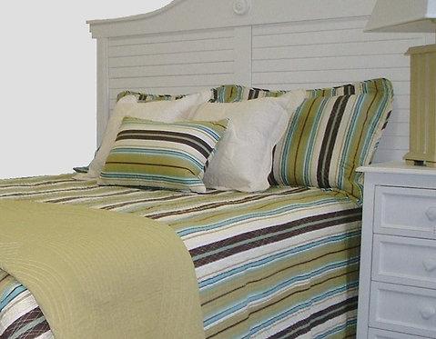 Brown/Blue Stripe Bedspread