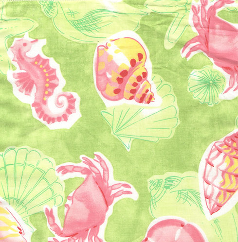 Pink & Green Sealife Fabric