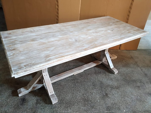 Mango Wood Whitewash Dining Table (MDA-102W)