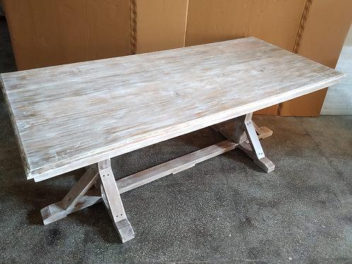 Mango Wood Whitewash Dining Table