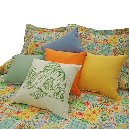 Fun, Whimsical, Frisby Colorful Designs Coverlet