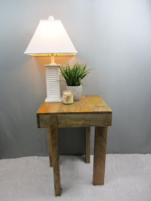 Mango Wood Natural Finish Side Table (MDA-131A)