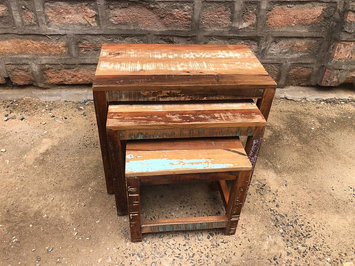 Indian Reclaimed Wood Nesting Tables (MDA-141)
