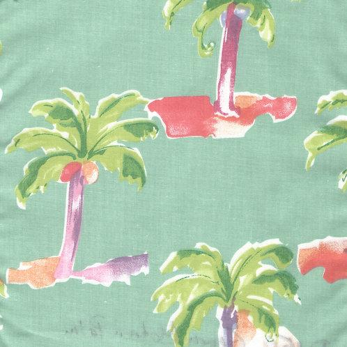 Modern Palm Green Fabric