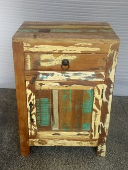 Indian Reclaimed Wood Side Table (MDA-25)