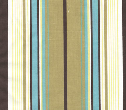 Brown/Blue Stripe Fabric