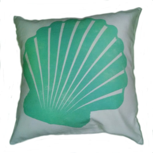 Green Scallop Pillow Cover
