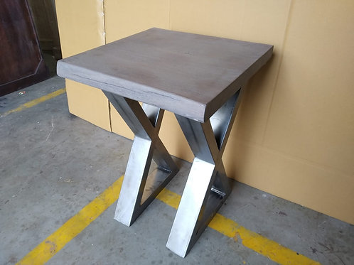 Acacia Wood Grey Stain Side Table